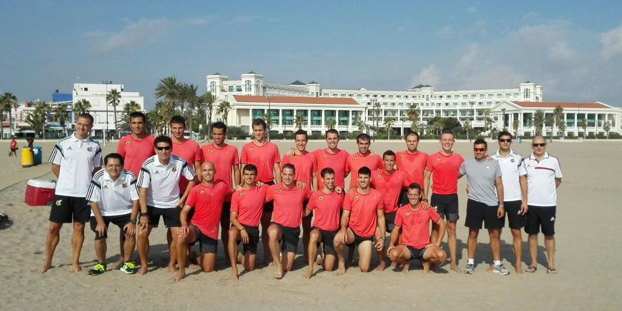 Futbol Playa Valencia 2015 después de las pruebas físicas