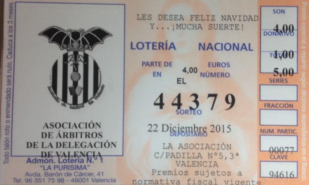 Lotería Asociación 2015