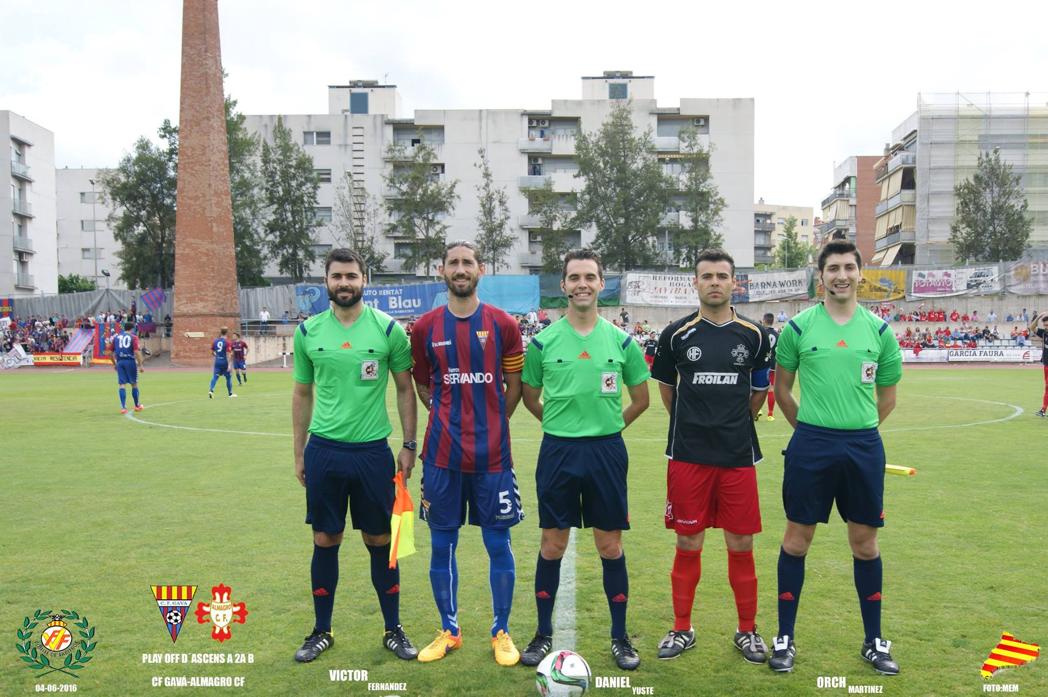 CF Gavà – Almagro CF: Daniel Yuste Querol, Víctor Fernández Pérez y Antoni Orch Martínez