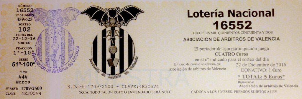 Lotería Asociación 2016