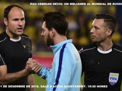 Homenaje a Pau Cebrian en Meliana (11 de Diciembre)
