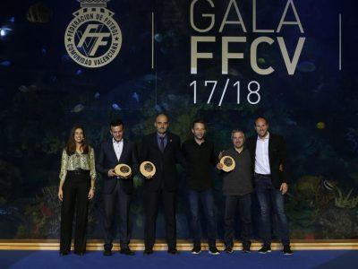Colegiados premiados en la Gala de FFCV