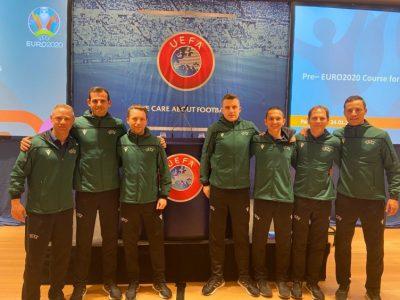 Árbitros españoles en el curso UEFA